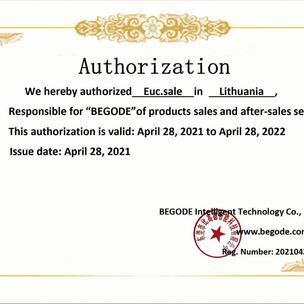 EUC.SALE official BEGODE Distributor in Europe.